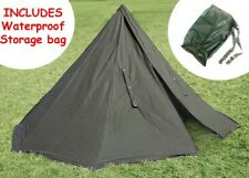 POLISH GREEN ARMY NOS MILITARY LAAVU TENT 2 PERSON Teepee Size 2 + STORAGE BAG