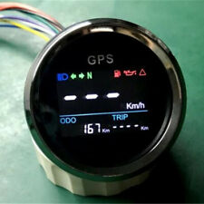 "2"" 52mm MPH Knots Km/h Motorcycle ATVs Digital LCD GPS Speedometer Fast Shipping"