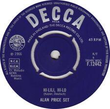 """Alan Price Set – Hi-Lili Hi-Lo  Orig 1966 Decca UK 7"""" Vinyl 45rpm  Ex Condition"""