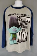 NWT Trolls Movie Forecast Grumpy with a chance of No Youth Size L Kids Shirt
