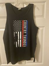 Country Thunder (2019) Tour Shirt. Official Tank Top. 2 Sided. Black. Xl.