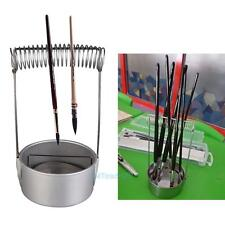 Stainless Steel Paint Brush Pen Washer Cleaner with Screen & Spring Holder Tools