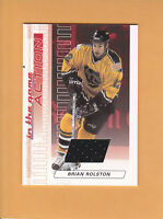 2003 04 ITG ACTION RUBY JERSEY # M-72 BRIAN ROLSTON BOSTON BRUINS
