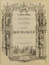 Province de Bourgogne, ouvrage illustré de la série La France Nationale, 1840