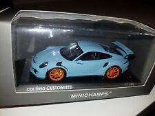 Porsche 911 991 GT3 RS 1:43 gulfblau Minichamps Cartima Customized 1 of 44