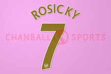 Rosicky #7 2007-2008 Arsenal UEFA Champions League Homekit Nameset Printing