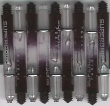 1.75in. 2ba Black/Clear HARROWS SUPERGRIP FUSION Dart Shafts & Rings: 1 Set of 3