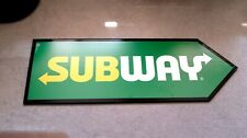 """Subway Sandwich Shop Sign Spinner - New Open Box 16"""" x 48"""" Double Sided"""