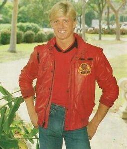 The Karate Kid Johnny Lawrence Cobra Kai Red Leather Jacket Bomber Jacket