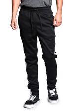Victorious Men's Slim Fit Color Blocked Sports Workout Techno Track Pants. S~5XL