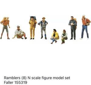 Ramblers (8) N scale figure model set Faller 155319