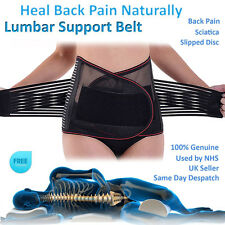US Adjustable Double Pull Lumbar Support Lower Waist Back Belt Brace Pain Relief