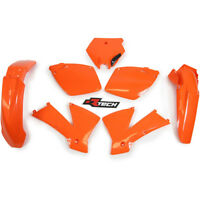 RACETECH PLASTIC KIT (ORANGE) KTM EXC ENDURO MODELS 125 - 525 2003