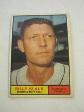 1961 Topps #187 Billy Klaus Baseball Card, Good Cond (GS2-b8)