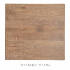 """New 24"""" x 24"""" Homestead Laminate Table Top in Band Milled Red Oak"""