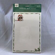 Hallmark Christmas Enclosure Note Card Pad Memo 20 Sheets Santa Mouse Vintage