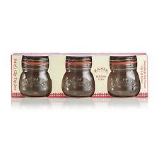 3 x kilner Original 0,5 litre rond clip top le stockage d'aliments pots de confiture, pochette de 3