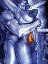 "African American Art ""Light My Fire"" Black Romantic Print Kevin Williams WAK"