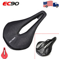 EC90 MTB Road Bike Gel Leather Saddle Seat Carbon Fiber wide Seat universal Seat