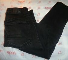 $64 American Eagle juniors skinny jegging jeans black wash size 0s pants 26W 26L
