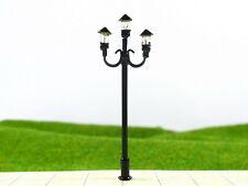 S156 - Set 10 Stück Straßenlampen nostalgisch 3-flammig 5,5cm Parkleuchten