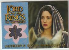 LORD OF THE RINGS TTT COSTUME MEMORABILIA CARD ARWEN'S REQUIEM CLOAK LOTR