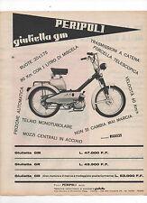 Pubblicità 1966 MOTO MOTOR GIULIETTA GM PERIPOLI advertising publicitè werbung