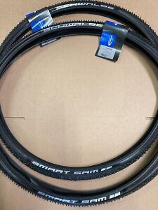 Pair Schwalbe 700 X 35c Smart Sam Gravel Tyres