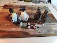 Vintage Ceramic And Metal Penguin Figurines And Salt Shakers, Lot 5