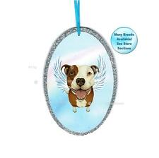 Pit Bull Terrier Angel Ornament Dog With Wings Pet Memorial Christmas Ornament
