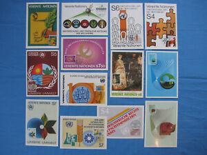 UNO Wien - Posten von 13 verschiedenen Maximumkarten von 1981 + 1982