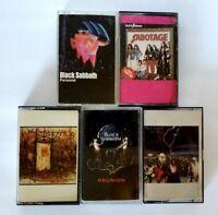 Black Sabbath Cassette Lot  - Ozzy Osbourne - Dio-  - 5 Five Tape Collection