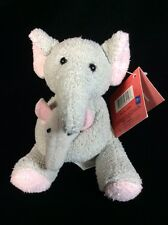 "Russ Luv Pets Mom Baby Elephant Plush 4"" Tags Soft Toy Stuffed"