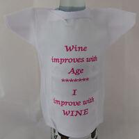 Bottle T-Shirt funny slogan - ideal birthday gift mature wine lover