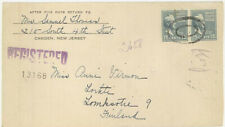 USA MI 427 MEF Letter with registered mail to Finland