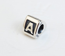 "Genuine Pandora Silver Charm ""Letter A"" - 790323A - retired"
