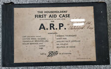 More details for ww2  a.r.p home first aid case complete with contents boots