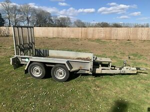 Tow Mate Mini Digger Plant Trailer Loading Ramp Front Prop Stand And Lights Good