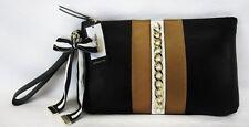 NINE WEST TABLE TREASURES LG Color-Block Leather Wristlet Bag Msrp $49.00 *NWT
