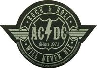 AC/DC AUFNÄHER / PATCH # 63 ROCK & ROLL WILL NEVER DIE - 10x7cm