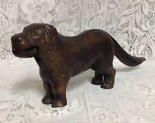 More details for vintage bronzed cast iron dog nut cracker. lovely patina. very heavy