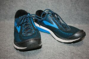 Brooks Ghost 10 Men's Size 10.5 D Blue Black Silver Running Shoes