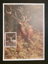 AUSTRIA MK 1959 JAGDWILD HIRSCH DEER WILD MAXIMUMKARTE MAXIMUM CARD MC CM c7935