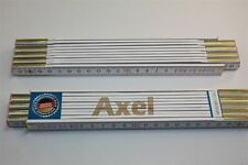 Zollstock mit Namen     AXEL    Lasergravur 2 Meter Handwerkerqualität