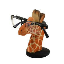 Wood Eyeglass Holder Glasses Display Stand Cute Giraffe Home Décor Figurine Gift