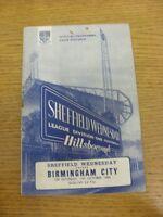 17/10/1964 Sheffield Wednesday v Birmingham City  (rusty staple). Thanks for vie