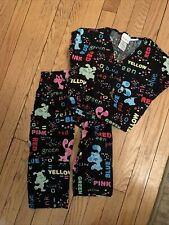 Nickelodeon Blue's Clues Kids Scrub Set Sz Small Black Color