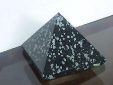 cristalloterapia PIRAMIDE OSSIDIANA FIOCCO DI NEVE cristallo FENG SHUI scultura