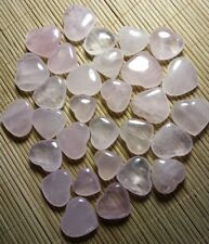 30 pieces of Natural pink rose quartz crystal heart Shape Specimens healing 9522