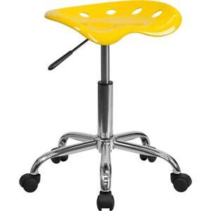 Flash Furniture Yellow Plastic Stool, Yellow - LF-214A-YELLOW-GG